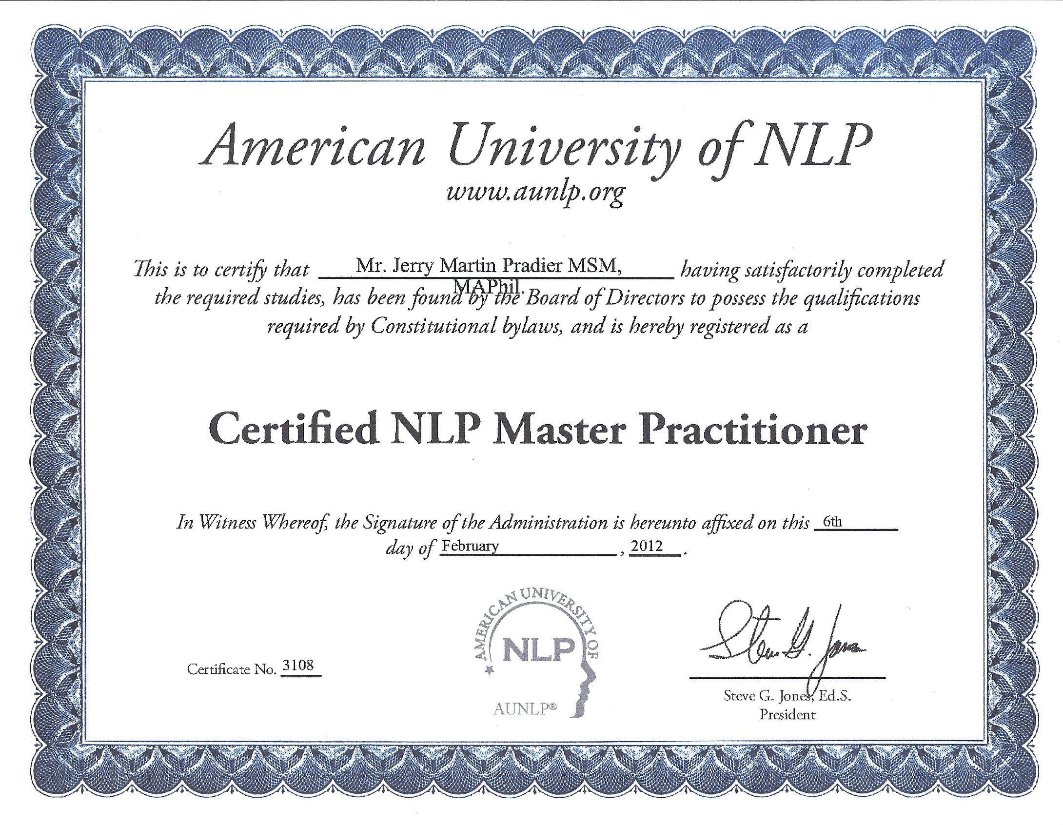 Pbdn news progressive business development network master nlp practitioner certification through the american university of xflitez Images